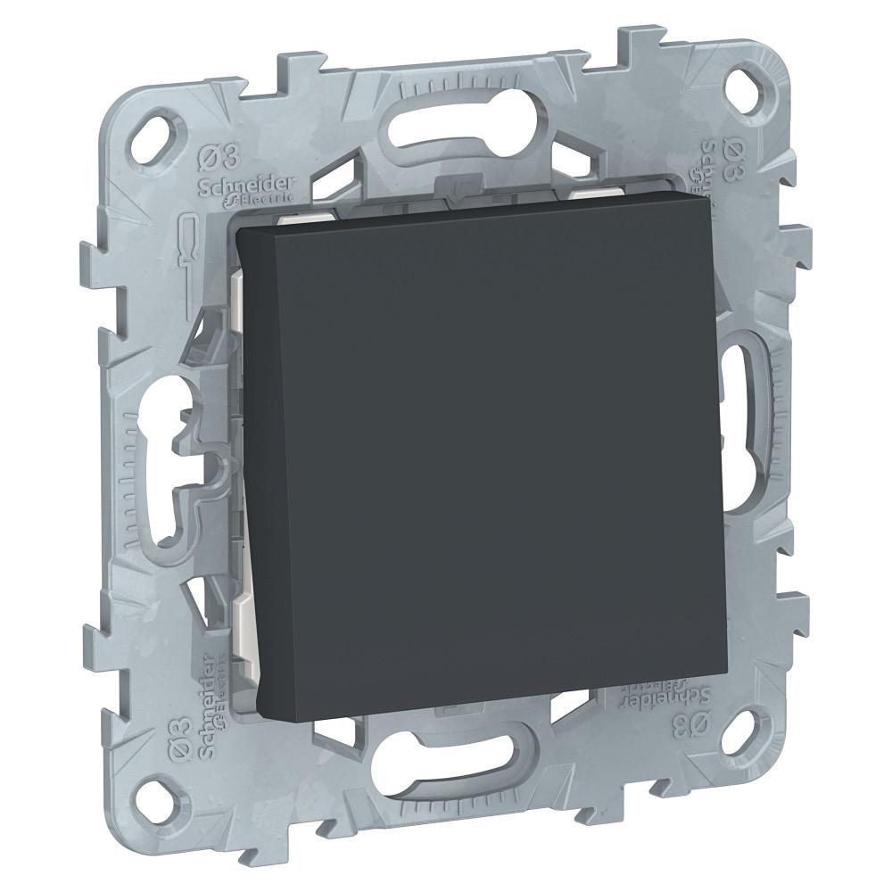 UN выключатель 1-клавишный, антрацит /NU520154/