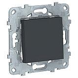 UN выключатель 1-клавишный, антрацит /NU520154/, фото 2