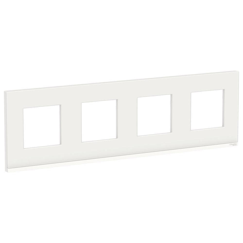 UNICA PURE рамка 4-п,гор, бел.стекло/бел /NU600885/