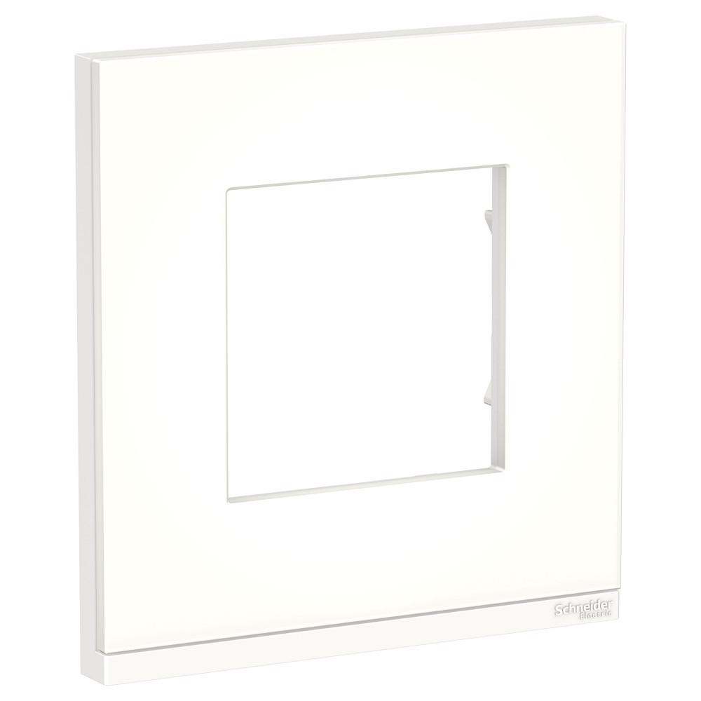 UNICA PURE рамка 1-п, гор, мат.стекло/бел /NU600289/