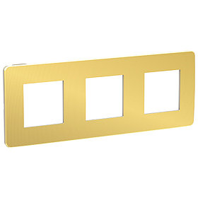 UNICA STUDIO рамка 3-поста, золото/беж /NU280660/