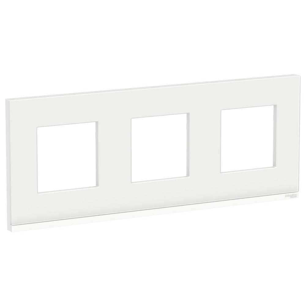 UNICA PURE рамка 3-п,гор, бел.стекло/бел /NU600685/