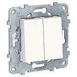UN переключатель 2-кл, перекр, белый /NU521518/, фото 2