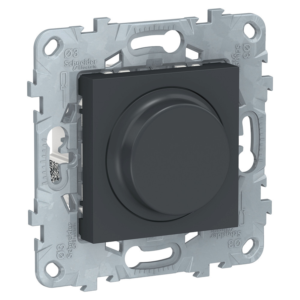 UN LED диммер повор-наж,универ, антрацит /NU551454/