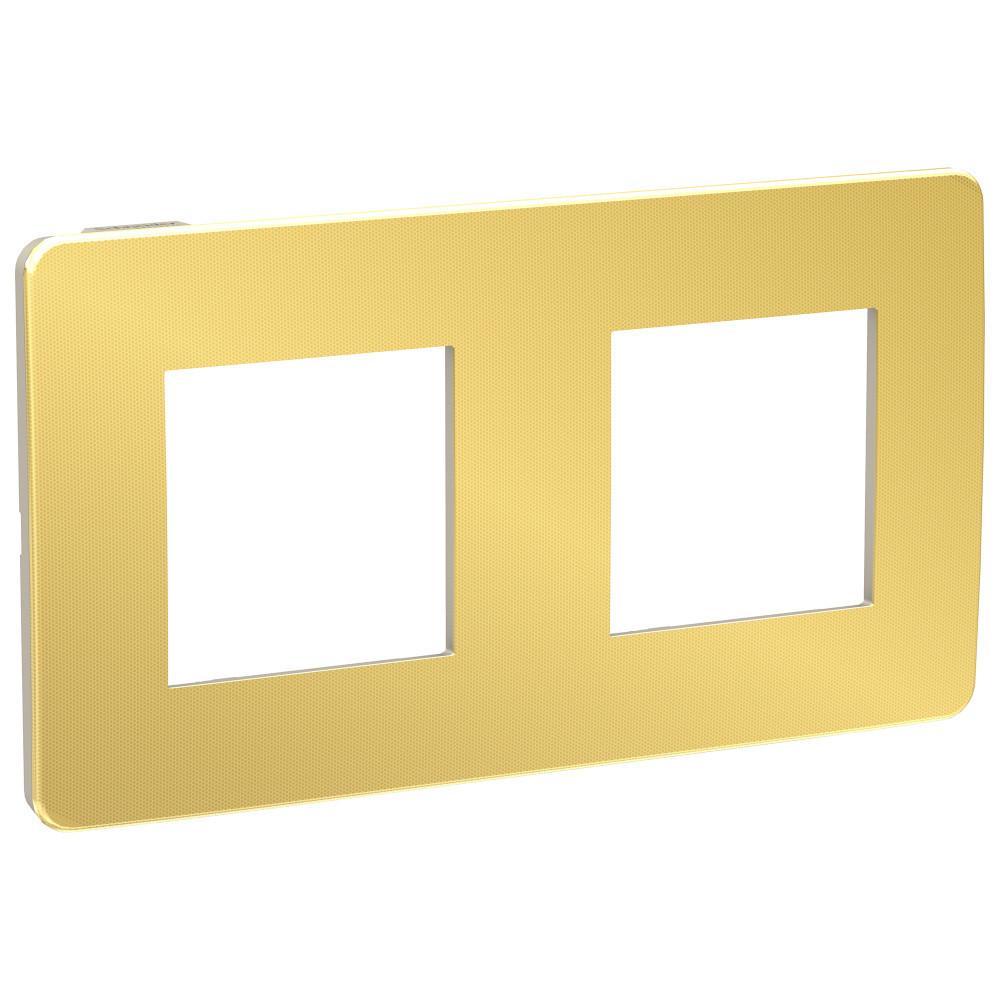 UNICA STUDIO рамка 2-поста, золото/беж /NU280460/