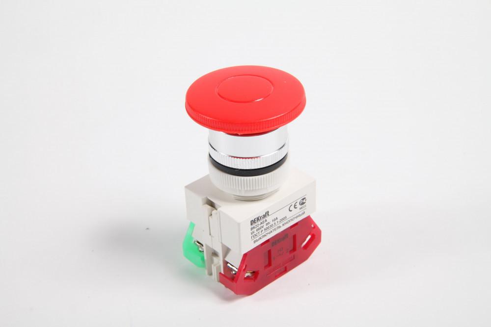 Выключатель кноп. ВК22-АЕ-RED /25038DEK/