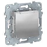 UN розетка с з/кл с/шторк, с крышкой, IP40, алюминий /NU503730TA/, фото 2