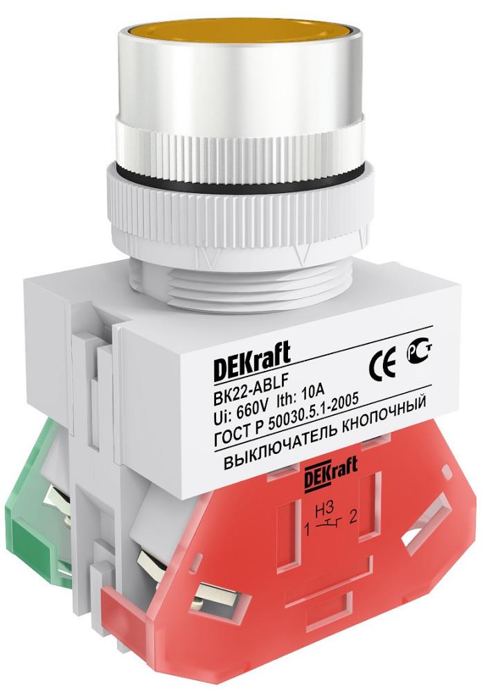 Выключатель кноп. ВК22-ABLF-YEL /25015DEK/