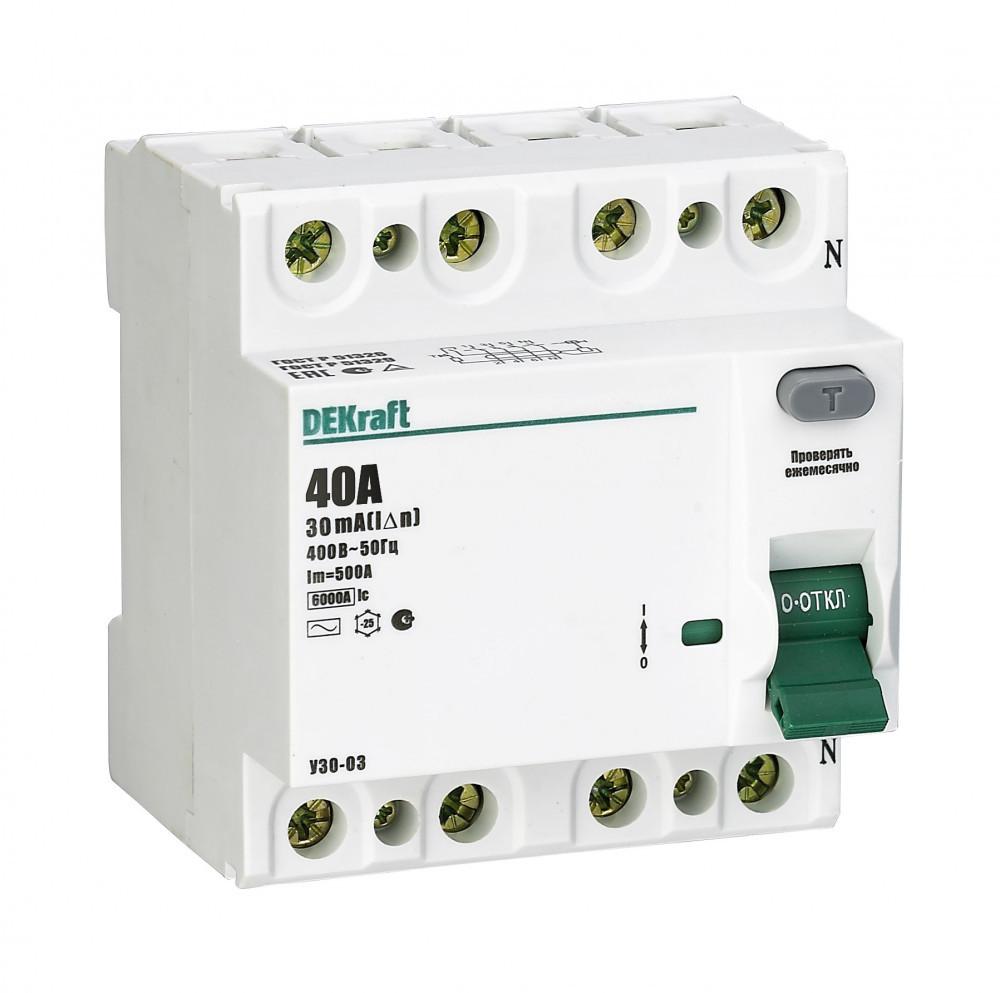 Выключатель диф.тока УЗО 03-4Р-040А-030 /14080DEK/