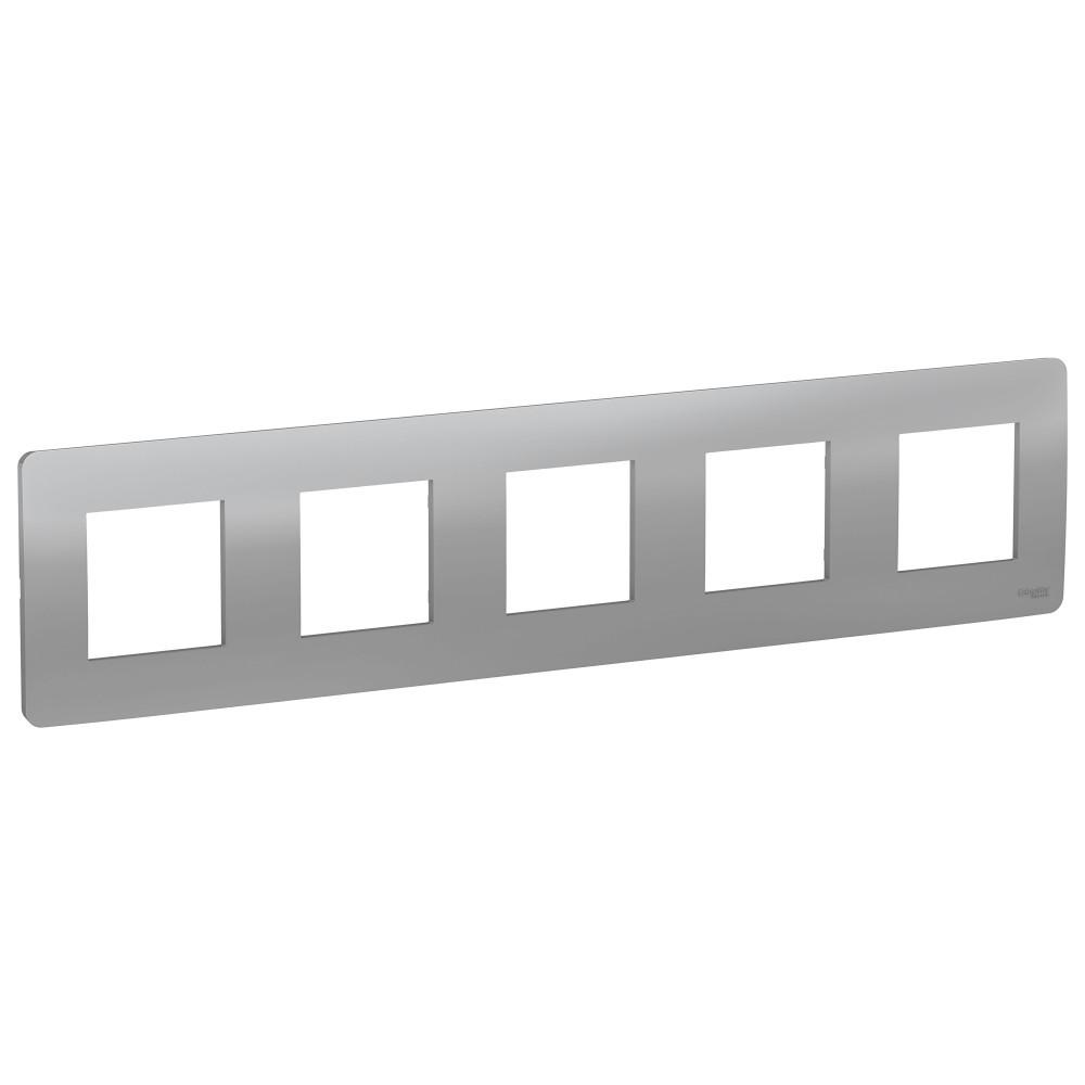UNICA STUDIO рамка 5-постовая, алюминий /NU201030/