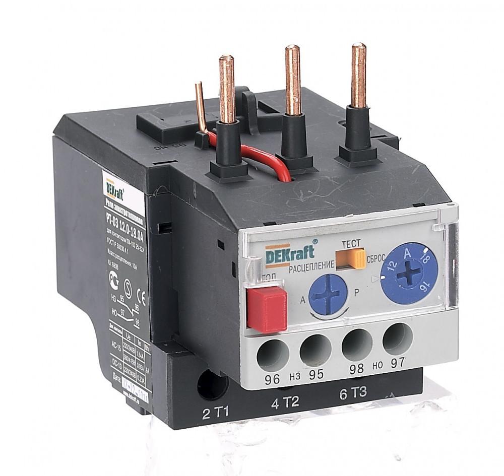 Реле электротепловое РТ03-25-32-12.0А-18.0А /23120DEK/