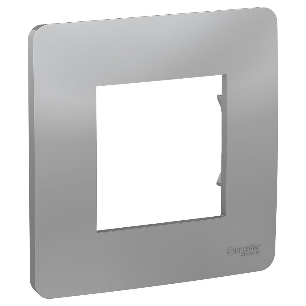 UNICA STUDIO рамка 1-постовая, алюминий /NU200230/