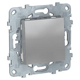 UN выключатель 1-клавишный, алюминий /NU520130/