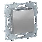 UN выключатель 1-клавишный, алюминий /NU520130/, фото 2