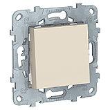 UN выключатель 1-клавишный, бежевый /NU520144/, фото 2