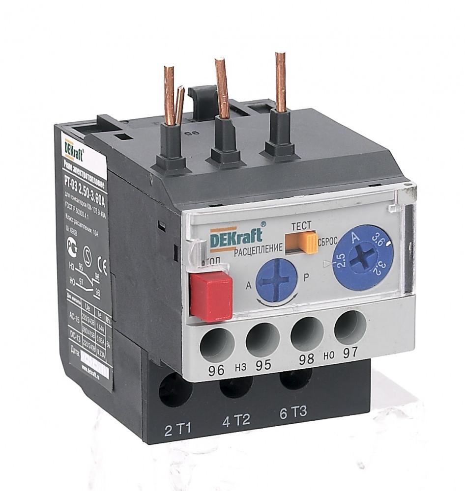 Реле электротепловое РТ03-09-18-4.50А-6.30А /23112DEK/