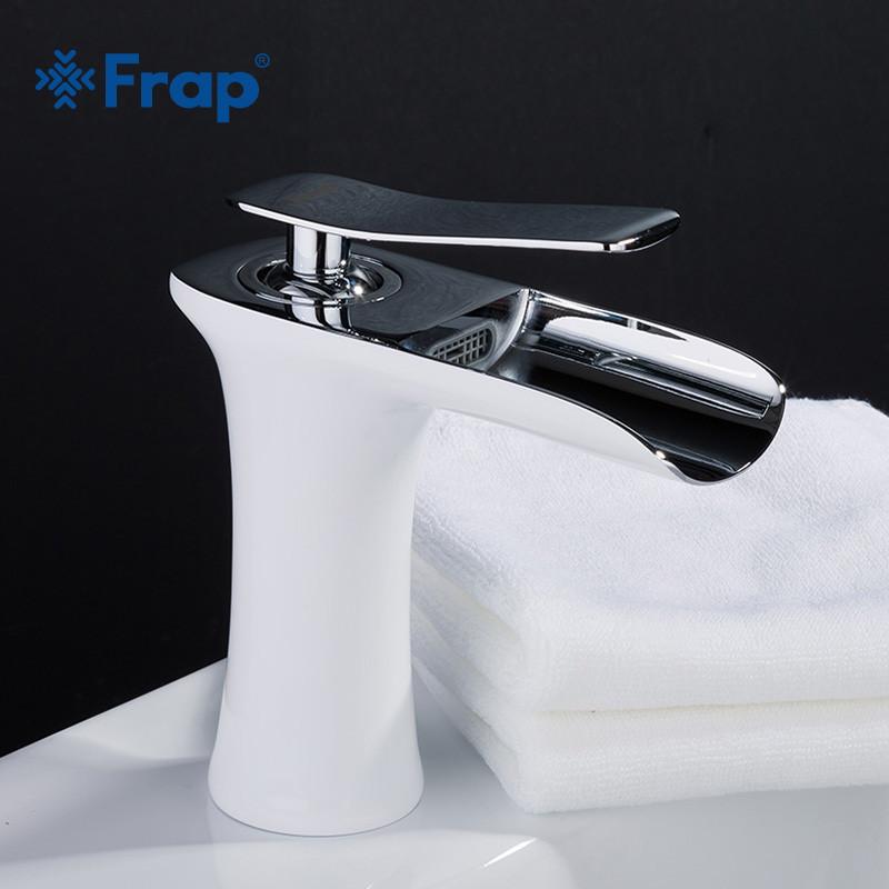 Смеситель для раковины  Frap 1052-52, Белый