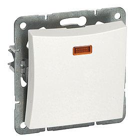 Выключатель WDE000163 вн. 1-кл подсветка,мех-м, белый Wessen