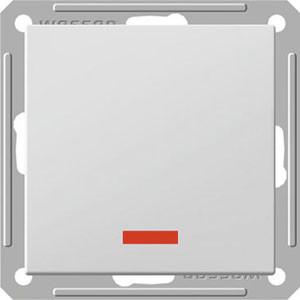 Переключатель ВС 716-159-1-86 перекрестный с подсв. 1кл.16АХ механизм, белый W59 Wessen