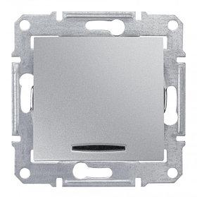Выключатель с синей подсв., алюм. SDN1400160