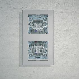 Переключатель 2 напр. с синей подсв. 10А, бел. SDN1500121
