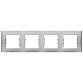 Рамка 4 горизонт.алюм. SDN5800760