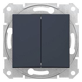 Выключатель 2 кл графит. SDN0300170