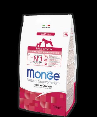 Корм Monge Starter Mini для щенков, беременных и кормящих собак мелких пород (Курица) - 1.5 кг
