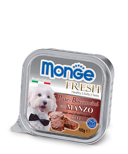 Паштет Monge Fresh для собак (Говядина) - 100 г