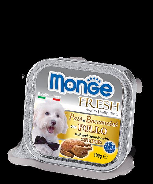 Паштет Monge Fresh для собак (Курица) - 100 г