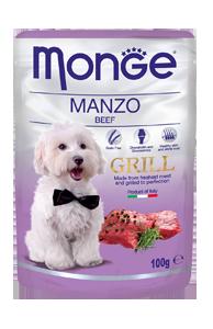 Корм Monge Dog Grill для собак (Говядина) - 100 г