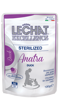 Корм Monge LeChat Excellence Sterilized для стерилизованных кошек (Утка) - 100 г