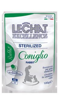 Корм Monge LeChat Excellence Sterilized для стерилизованных кошек (Кролик) - 100 г