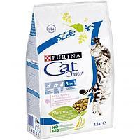 Корм Cat Chow Feline для кошек, тройная защита (Домашняя птица и индейка) - 1.5 кг