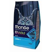 Корм Monge BWild Adult Anchovies для взрослых кошек (Анчоус) - 10 кг