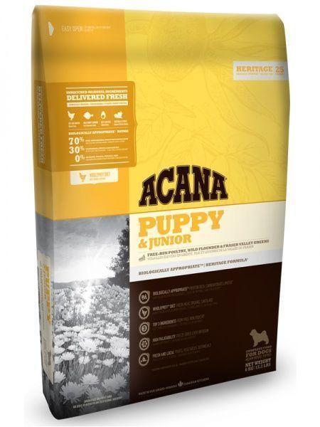 Беззерновой корм Acana Puppy & Junior для щенков, средних пород (Цыпленок и Рыба) - 2 кг
