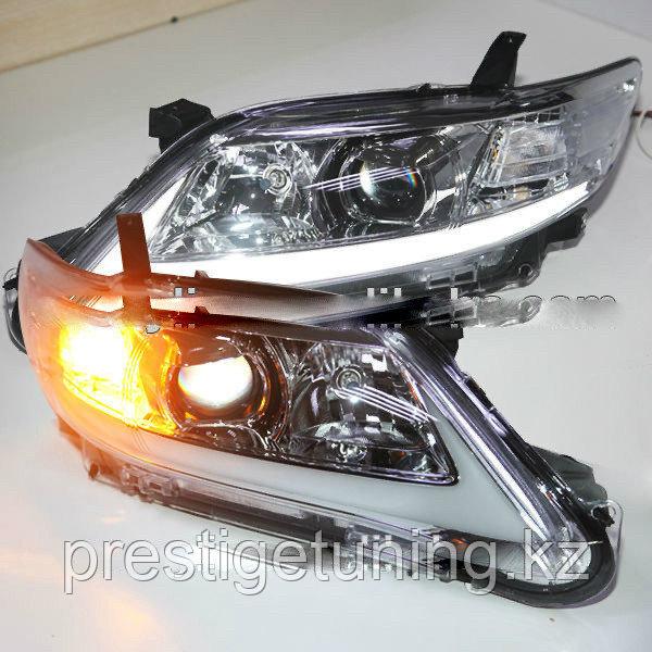 Передняя оптика на Camry V45 USA в стиле Lexus (White)