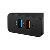 CANYON Universal 2xUSB AC charger (in wall) with over-voltage protection(1 USB with Quick Charger QC