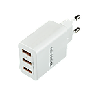 CANYON Universal 3xUSB AC charger (in wall) with over-voltage protection, Input 100V-240V, Output 5V
