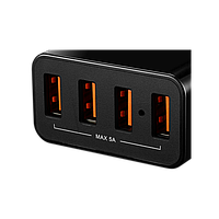 CANYON Universal 4xUSB AC charger (in wall) with over-voltage protection, Input 100V-240V, Output 5V