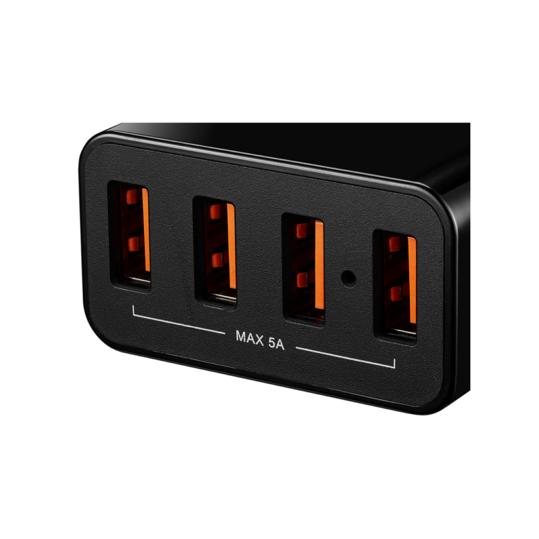CANYON Universal 4xUSB AC charger (in wall) with over-voltage protection, Input 100V-240V, Output 5V - фото 1