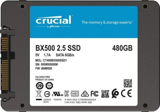 "Твердотельный накопитель  480GB SSD Crucial BX500 2.5"" SATA3 R540Mb/s, W500MB/s 7mm"
