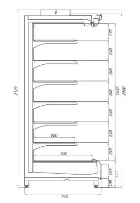 Аксессуары к холодильной витрине Tesey Compact
