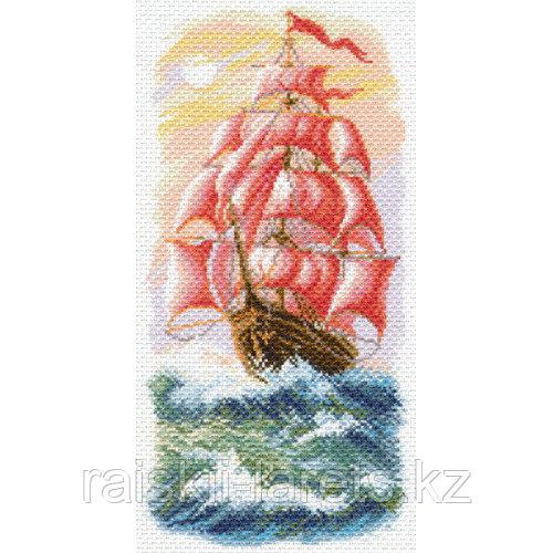 """Рисунок на канве для вышивания крестом """"Алые паруса"""" арт. 1640"""