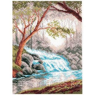 """Рисунок на канве для вышивания крестом """"Утро в лесу"""" арт. 0809-1"""