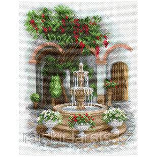 """Рисунок на канве для вышивания крестом """"У прохладного фонтана"""" арт. 1690"""