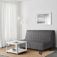 БЕДИНГЕ 2-местный диван-кровать, Шифтебу темно-серый