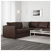 ВИМЛЕ 5-местный угловой диван, Фарста темно-коричневый, Фарста темно-коричневый, фото 1