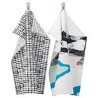 Полотенце кухонное ЛАККТИККА с рисунком, 50x70 см  ИКЕА, IKEA, фото 1
