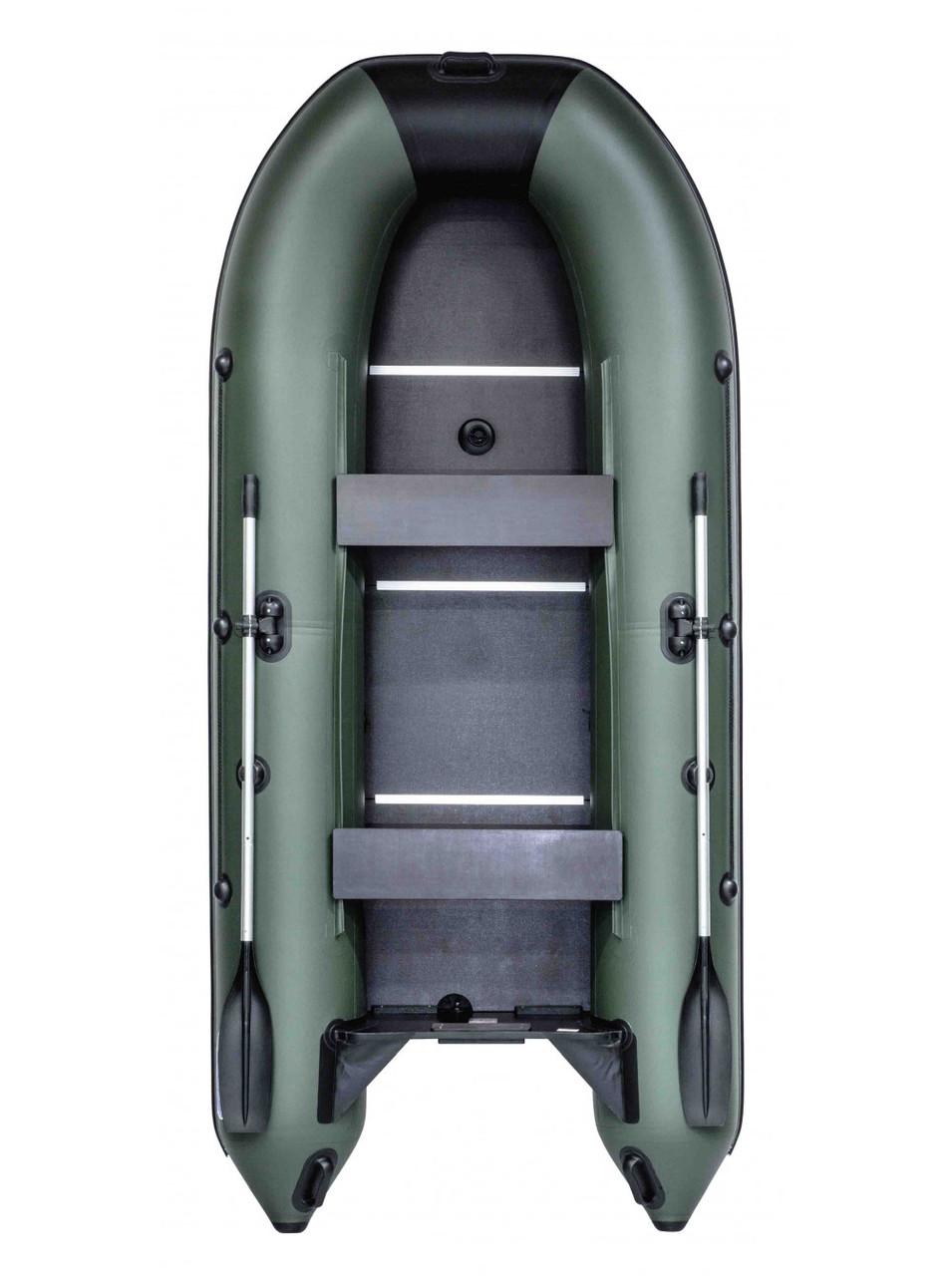 Лодка RUSH 3300 СК зелёный/черный